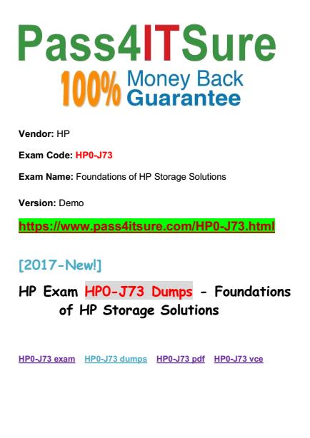 HP0-J73 dumps